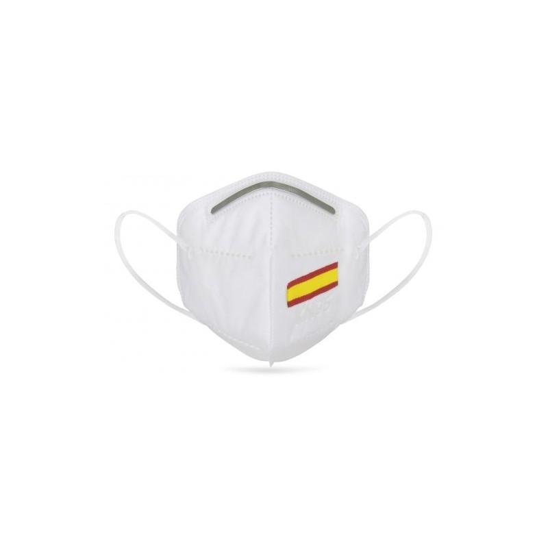 mascarilla bandera de España  con protección KN95