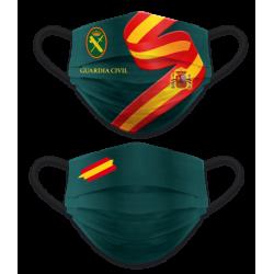 Mascarilla Guardia Civil reversible bandera de España